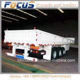 40 ft 3 de l'utilitaire de conteneurs de fret de l'essieu flanc semi remorque de camion