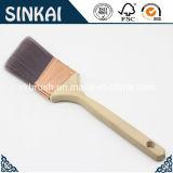 De largo mango de madera pinceles de pintura en ángulo