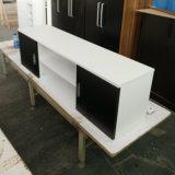 2つのドアが付いている木製の現代TVのキャビネット