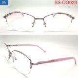 Estrutura de vender metade quente de óculos óculos estrutura óptica de metal com dobradiça da mola para Mulheres