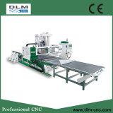 Systems-Holzbearbeitung CNC-Maschine laden und aus dem Programm nehmend