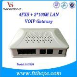 ATA SLOKJE van de Haven van de Adapter 1wan+1LAN+4FXS en Ims VoIP Gateway