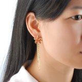 Boucle d'oreille de bijou de gland de Rhingstone plaquée par or d'accessoires de mode