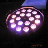 DMX fase 18x10W RGBW 4NO1 PAR LED Light com zoom