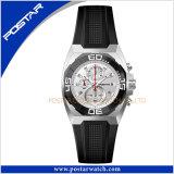 Miyota Chronograph relógio de relógio de quartzo de aço inoxidável