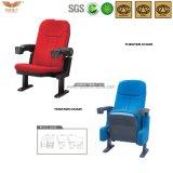 Cadeira de teatro dobrável confortável com titular de copo