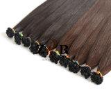 8 cor marrom-Naturais Cabelos Europeu Cabelos Virgens Remy Extensão de cabelo