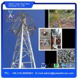 Torre Telecom de aço triangular galvanizada uma comunicação de Guyed