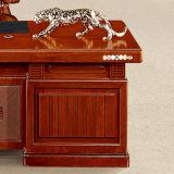 نمو مكتب كبيرة خشبيّة تنفيذيّ رئيس طاولة مع جانب خزانة
