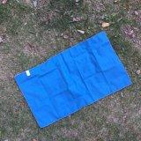 Zweiseitige Stapel-blaue Farbe leichte Microfiber Gymnastik-im Freientücher