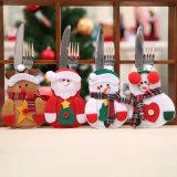 Reeks van het Bestek van Kerstmis van de Vork van het Mes van de kerstman de Vastgestelde