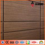 Prix en bois d'ACP de regard de construction de PVDF de matériaux décoratifs extérieurs de mur