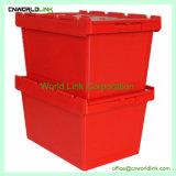 50kgs Security Fixe a tampa de plástico de movimentação de cargas sólidas empilháveis