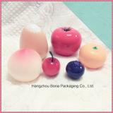 Empacotamento colorido luxuoso da forma da fruta do frasco de creme cosmético redondo da forma do pêssego