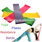 Entrenamiento de alta calidad profesional de látex personalizadas de Yoga de la resistencia de la banda de bucle