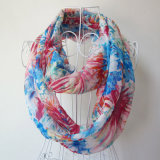 Écharpe Chiffon de ressort d'infini imprimée par fleur de mode de femme (YKY1100)