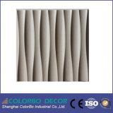 Painel de parede decorativo do MDF da onda de madeira 3D