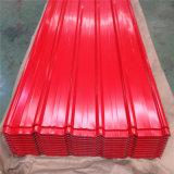 Hoja de techos de metal corrugado paneles de techo Prepainted PPGI bobinas de acero galvanizado para la construcción