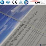 Glace solaire modelée par Photovaltaic inférieure de fer