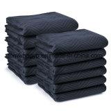Paquete móvil de la manta -12, 35 libras por docena, azul de marina/negro, zigzag