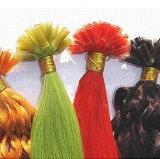 着色の前担保付きの毛