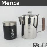 ステンレス鋼の木のハンドルのコーヒーメーカーのコーヒー鍋