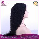 Longs cheveux bouclés vierge péruvien Full Lace Wig