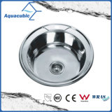 Dissipador de cozinha do aço inoxidável com placa de drenagem (ACS5745)