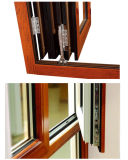 Security Grill를 가진 두 배 Glass Aluminum Casement Window