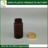 bottiglia di plastica della capsula di colore ambrato dell'animale domestico 100ml con la protezione di alluminio