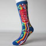 Kundenspezifische Fußball-Großhandelssocken, die Socken-Knie-hoch laufende Sport-Socken komprimieren