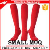 Entwerfer-kundenspezifisches Firmenzeichen-Mann-lustiges Knie-hohe Socken-Fußball-Socken