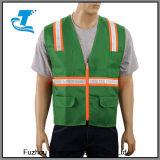 Gilet de sécurité réfléchissant haute visibilité avec 4 poches inférieures