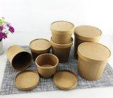 Enlever la soupe chaude conteneur en papier jetables en papier kraft compostables soupe Cup