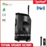 Casella attiva di plastica Cx-15D dell'altoparlante dell'altoparlante ricaricabile portatile senza fili del carrello dei 15 sistemi acustici di pollice
