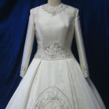 Vestido nupcial muçulmano feito-à-medida do vestido de casamento de OEM/ODM