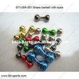 Runde Messingraupen für die Fliegen-Bindung - MessingBarbell mit Augen 08A-001