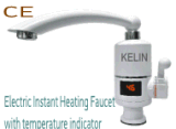 Grifo inmediato eléctrico de la calefacción con el mezclador y el grifo de la cocina del indicador digital del LED