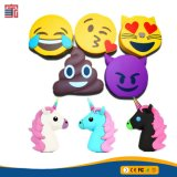 Nouvelle arrivée de gros de la Banque d'alimentation chargeur Emoji Cheap Powerbanks Unicorn Cartoon Cute Poops Emoji Unicorn Banque d'alimentation