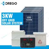 Morego weg vom Rasterfeld-Sonnenkollektor-Stromnetz 3kw mit Gel-Batterie 12V 200ah