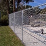 PVCチェーン・リンクの鋼鉄塀