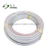 Trenzado de fibras reforzadas de PVC flexible manguera de jardín Riego