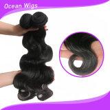 Do Virgin natural do ser humano da cor 100% da onda do corpo extensão/trama européias do cabelo