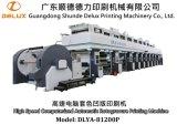 Imprensa de impressão automática de alta velocidade do Rotogravure de Shaftless para o cartão (DLYA-81200P)