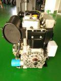 Turbocompresseur refroidi par air Supercharged Double lits Deux Moteur diesel 2 cylindres à haute vitesse pour la pompe à eau du moteur de groupe électrogène de puissance 14kw 19HP 3000tr/min Twdt290f