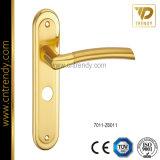 Безопасности Zamak стальные двери ручку с подложку (7012-Z6025)