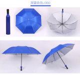 Bouteilles de vin de parapluie de poste de cadeau pliant le parapluie créateur de pluie promotionnelle de Sun