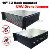 3u Rack-Mounted Anti Spy Seguridad y Defensa de la señal de aviones no tripulados Uav Jammer