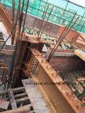 콘크리트를 위한 남성 Pin를 가진 Prefabricated 강한 구조 강철 란 건물