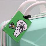Silicone Wholesales Custom Bonitinha Cartoon Design da etiqueta de bagagem em PVC maleável
